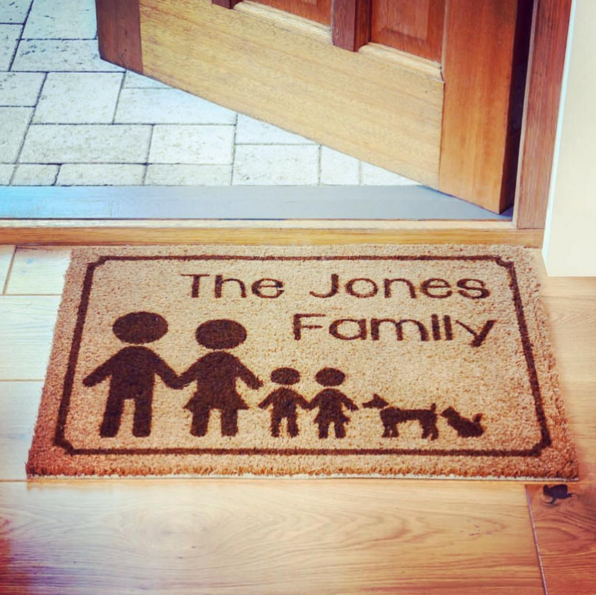 @lasermadedesigns personalised door mat